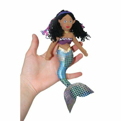 Finger Puppet - Mermaid (Dark Skin Tone) New Soft Doll Plush PC002175