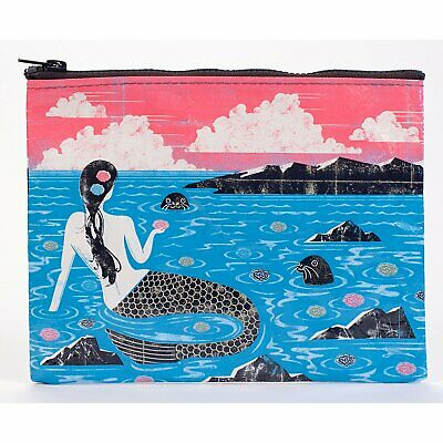 "Zipper Pouch - Blue Q - Mermaid 9x7"" File Pocket Bag QA253"
