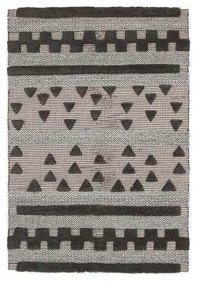 Rhythm Flow Charcoal Rug Modern Rugs Floor Carpet Home