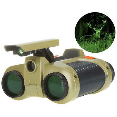 Night Vision 4 x 30mm Surveillance Pop-up Light Scope Telescope Binoculars BH