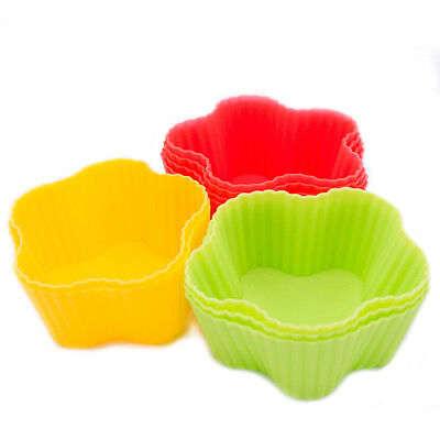 2pcs Soft Silicone Cake Muffin Chocolate Cupcake Bakeware Baking Cup Mold Mould
