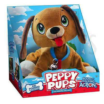 Peppy Pups I Go Where you Go Bouncing Walking Action Toddler Pull Dog Toy NEW