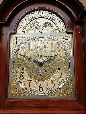 Grandfather clock triple chime & calender day date cherry casement by Sligh