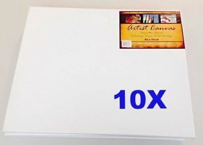10x Blank Art Canvas Panels 40x50cm For Oil & Acrylic Artist Painting Tool