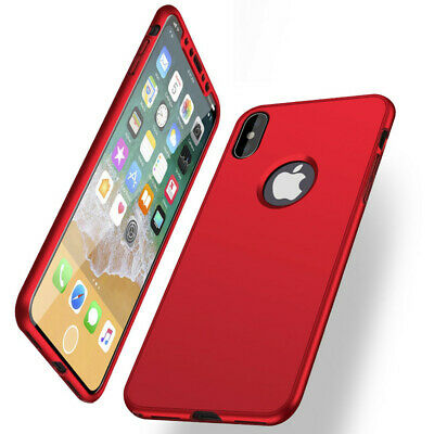 Shockproof Full Body Soft Rubber Case Cover For iPhone XS Max XR X 8 7 6s Plus