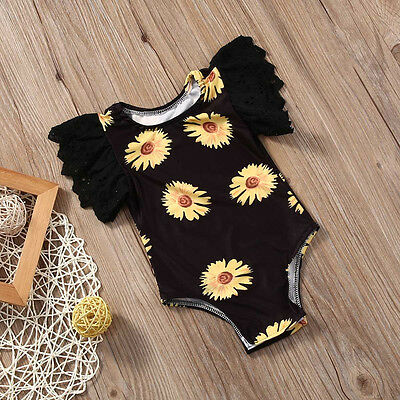 AU Stock Newborn Baby KIds Girl Bodysuit Romper Jumpsuit Outfits Sunsuit Clothes