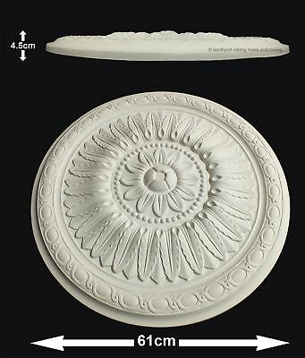 Lightweight Resin Ceiling Rose Annuska Mould Not Polystyrene Easy to Fix 61cm