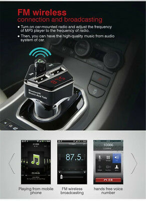 Bluetooth FM Transmitter Car Kit MP3 Player USB Charger For iPhone 5s 6s 7 Plus
