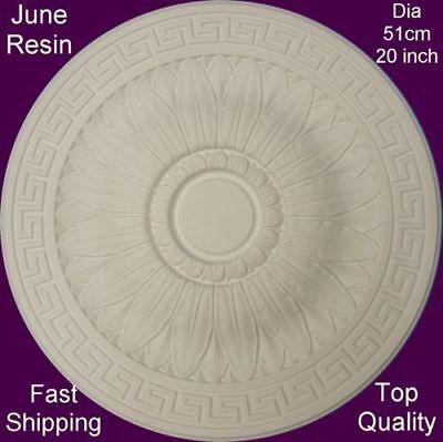 Lightweight Resin Ceiling Rose Strong Design Not Polystyrene Easy Fix 51cm
