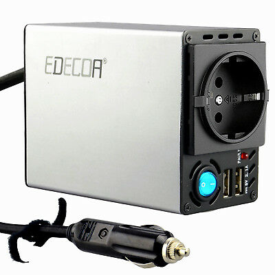 EDECOA Inversor Convertidor 300W 600W 12V 220V power inverter with dual USB 2.1A