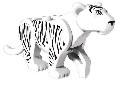 White Tiger  Animal Would The Jungle Series Tigers Building Blocks Fits lego