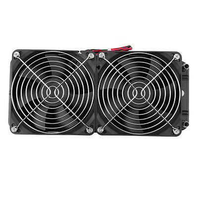 Aluminum 240mm Water Cooling cooled Row Heat Exchanger Radiator+Fan for CPU PC J