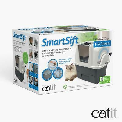 Catit Smartsift Deluxe Hooded Cat Pan Litter Tray Set Automatic