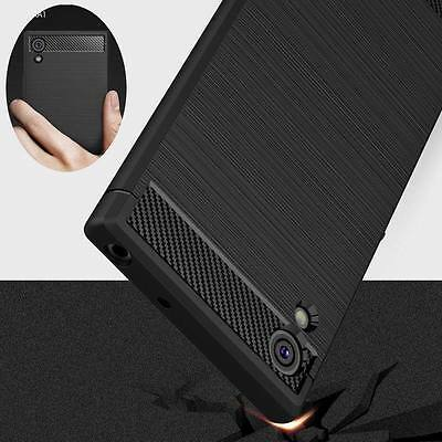 Shockproof Armor Carbon Fiber Hybrid Brush Case Cover For Sony Xperia XA1 XZ