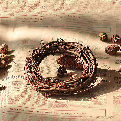 1pc Christmas Wreath Round Ring Rattan Garland Wall Table Display Base 3 Sizes