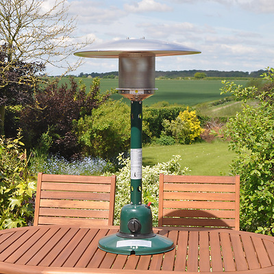Patio Heater Table Top Gas Steel Garden Outdoor Fire Heating Heat Bbq Party