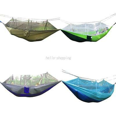 AU Outdoor Double Person Hanging Parachute Hammock Bed Tent With Mosquito Net
