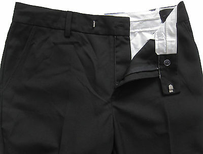 New Marks & Spencer Boys Black Skinny Leg School Trousers Age 10-11 Years x 1