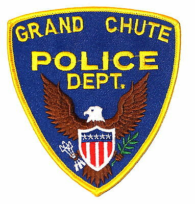 GRAND CHUTE WISCONSIN WI Sheriff Police Patch EAGLE OLD MESH ~