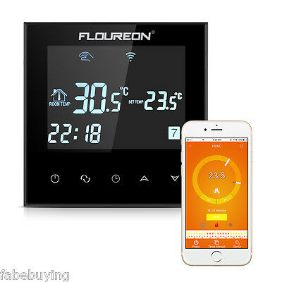 Smart Wi-Fi Programmable Digital Thermostat Touch Screen Thermostat 4-Wifi DE