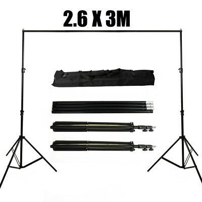 Photography Studio Heavy Duty Backdrop 2.6x3m Screen Background Support Stand AU