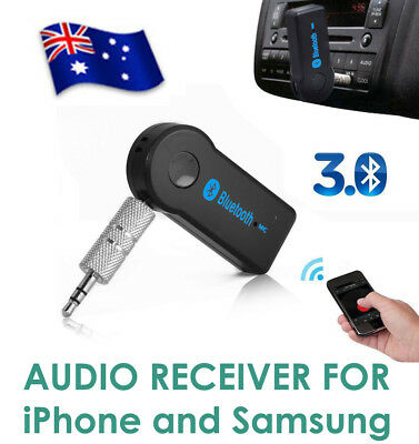 Wireless Bluetooth Receiver 3.5mm AUX Audio Stereo Music Home Car Adapter iPhone