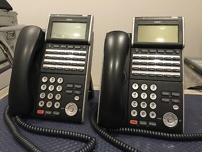 2x NEC Phone System Handsets ITL-24D-1A