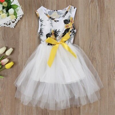 AU Toddler Girls Princess Dress Kids Baby Party Wedding Pageant Tulle Tutu Dress