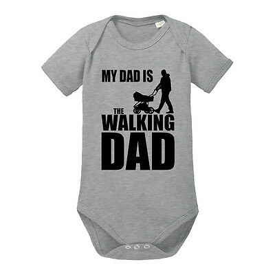 My Dad is the Walking Dad lustiger Baby-Body Bio-Baumwolle kurzarm Babystrampler