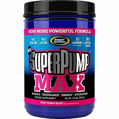 Gaspari Nutrition SuperPump Max Pre Workout Muscle Endurance Energy 640g