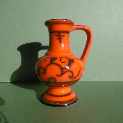 SUPERB Orig DUTCH GOUDA FLORA 'Tokio' Pottery 'Whisky' Water JUG (No1875)..c1970