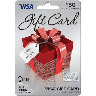 $50 Visa Card - Non Reloadable - No Fees After Purchase