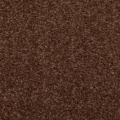 Chocolate Brown Hessian Back Budget Saxony Carpet, Cheap Hardwearing Soft Pile