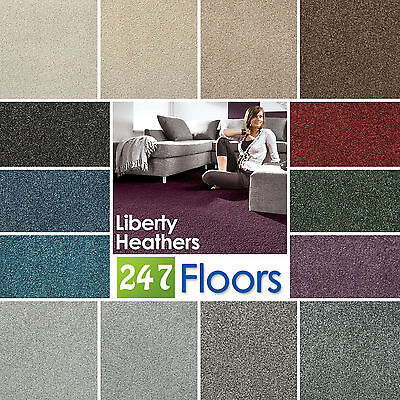 Liberty Heathers Carpet - Stain Resistant Twist Quality Feltback - ONLY £4.75m²