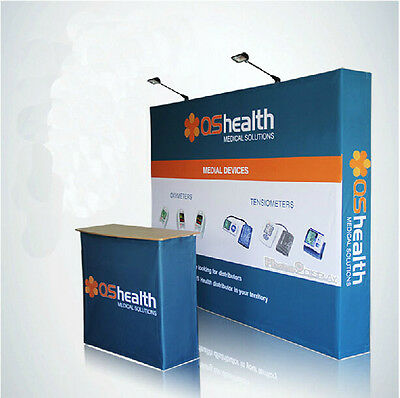10FT pop up display banner trade show booth backdrop wall