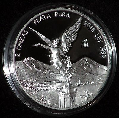 2015 2 oz Silver Mexican Libertad Proof Coin in Mint Capsule *ONLY 1300 MINTED!*