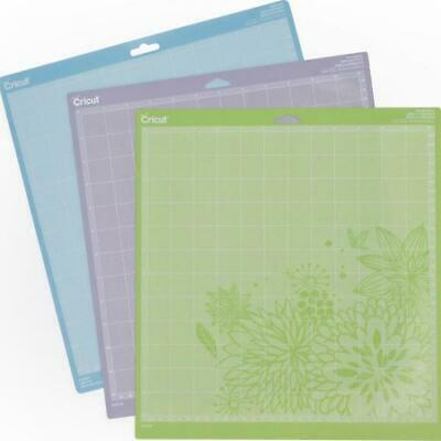 Cricut 12 inch 30.5cm  cutting mat  variety pack of 3 , strongGrip std light