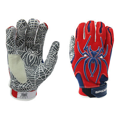 Spiderz Hybrid 2017 Adult Baseball/Softball Batting Gloves - Red/Navy - XL