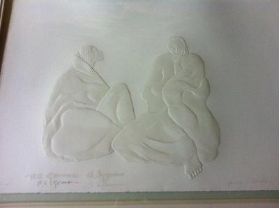 R.C. Gorman and Ed Morgan Cast Paper signed 'Spring  Celebration'