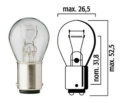Ten Pack Flosser 14052 Mini Bulbs 24V 10W BA15s Made in Europe Replaces 623