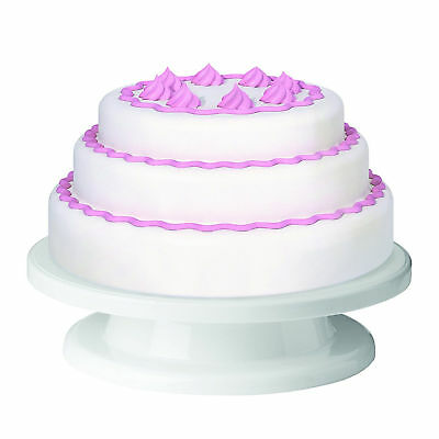 Turntable Cake Display Stand for Decorating Icing Serving Easy To Clean Sturdy
