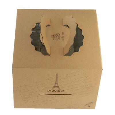 Pack of 10pcs Kraft Paper Tower Portable Cake Boxes Gift Boxes Party Gift