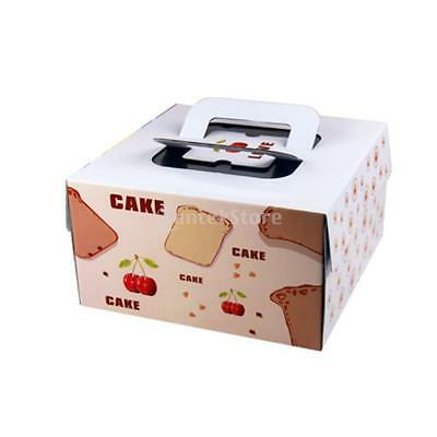 Lot of 10pcs Paper Cherry Portable Baking Food Cake Boxes Gifts Favor