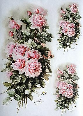 Rice Paper for Decoupage Scrapbooking Sheet Craft Vintage Ladies Old Pictures GT