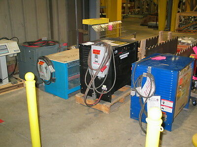 Forklift Battery Chargers Lot of four chargers, 3 @36 VDC, one @ 48 VDC