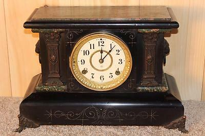 Antique Seth Thomas Adamantine 8 Day Mantle Clock ~ 1899 ~ Serviced & Running