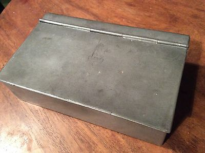 Pewter Box With Armorial Crest, C1900