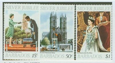Barbados #452-54 Mint, Vf, Nh  Silver Jubilee