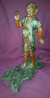 Antique japanese 1860s-70s meiji period lacquered figure