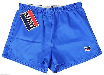"NEW VTG 80s LEVIS Blue SHORT SHORTS 28"" Waist Youth Medium 10-12 Made In USA NWT"